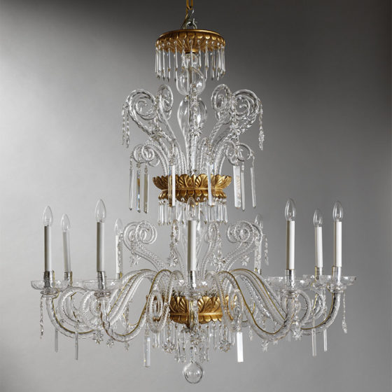 Art. 223/10 • Crystal and gilded wood chandelier • Ø 110, H 120