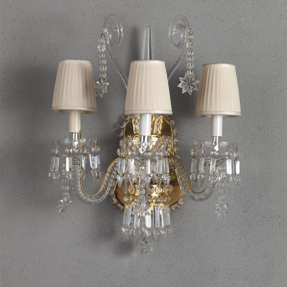Art. A170/3P • Crystal wall sconce • L 43, H 60