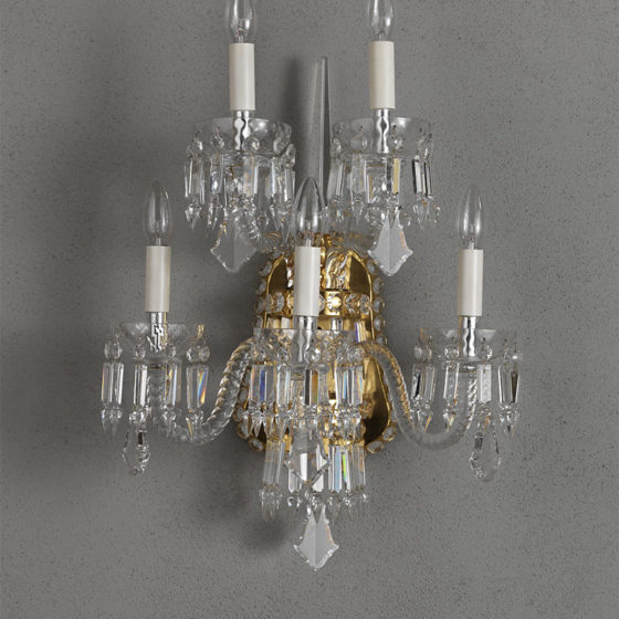 Art. A170/5 • Crystal wall sconce • L 43, H 55