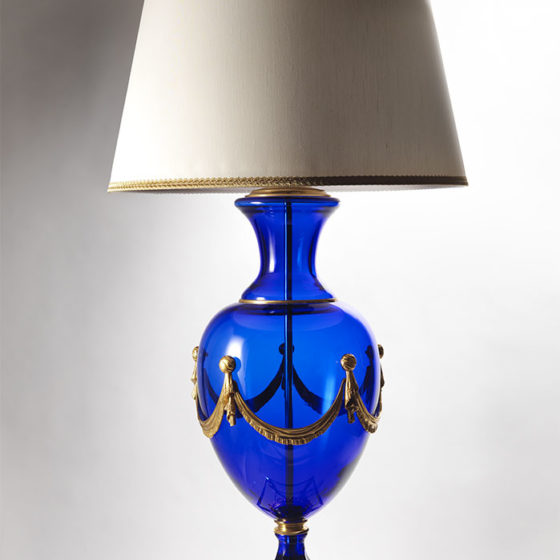 Art. L120/3 • Blue crystal lamp • Ø 65, H 125