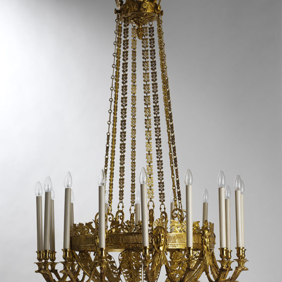 Art. RUSSIA 16 • Russian chandelier, gilded bronze • Ø 95, H 140