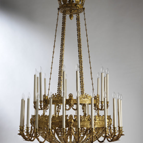 Art. RUSSIA 36 • Russian chandelier, gilded bronze • Ø 120, H 190