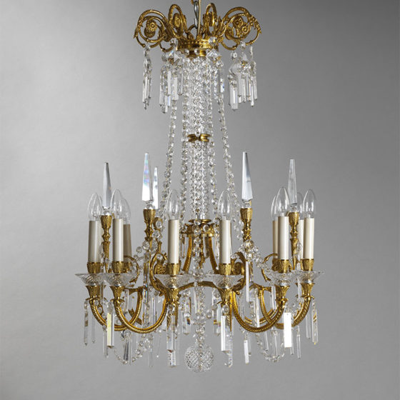 Art. 220/12 • Artistic chandelier, gilded bronze and alabaster • Ø 80, H 105