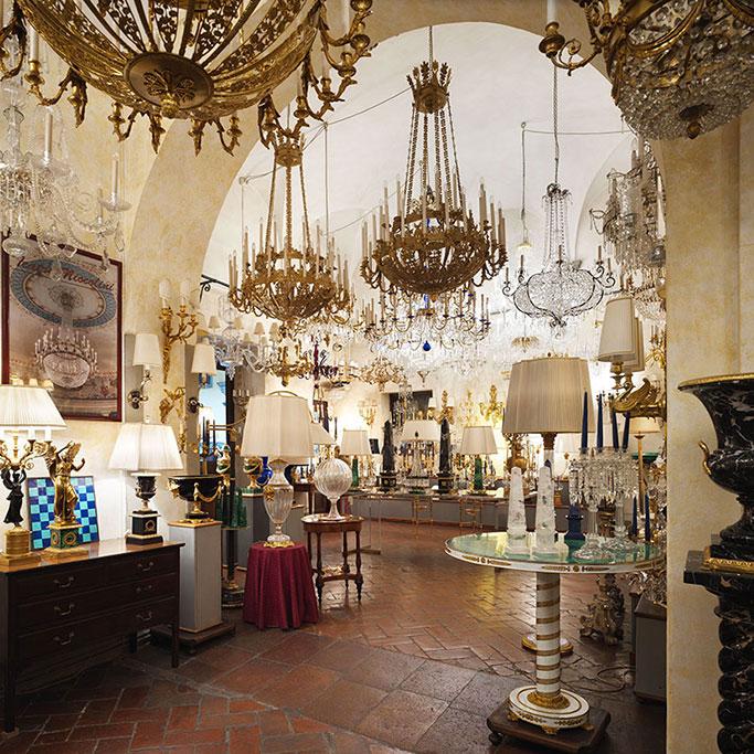 GHERARDO DEGLI ALBIZZI • Lampadari artistici, Firenze